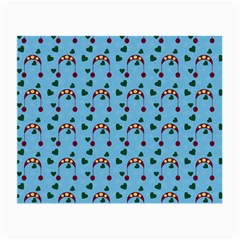 Winter Hat Red Green Hearts Snow Blue Small Glasses Cloth