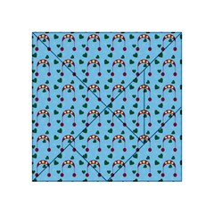 Winter Hat Red Green Hearts Snow Blue Acrylic Tangram Puzzle (4  X 4 )