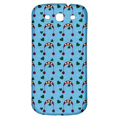Winter Hat Red Green Hearts Snow Blue Samsung Galaxy S3 S Iii Classic Hardshell Back Case
