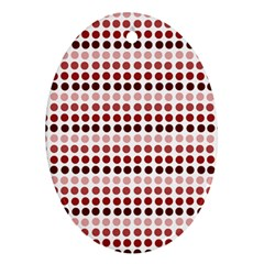 Reddish Dots Ornament (oval)