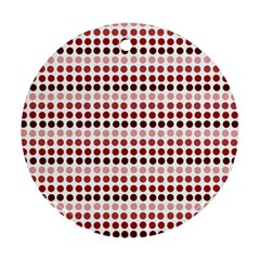Reddish Dots Round Ornament (two Sides)