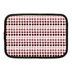 Reddish Dots Netbook Case (medium)