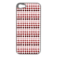 Reddish Dots Apple Iphone 5 Case (silver)