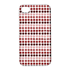 Reddish Dots Apple Iphone 4/4s Hardshell Case With Stand
