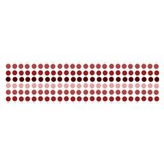 Reddish Dots Satin Scarf (oblong)