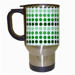 Greenish Dots Travel Mugs (white)