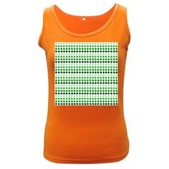 Greenish Dots Women s Dark Tank Top