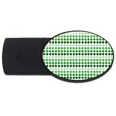 Greenish Dots Usb Flash Drive Oval (4 Gb)