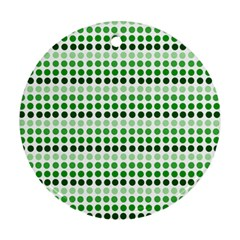 Greenish Dots Round Ornament (two Sides)