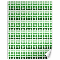 Greenish Dots Canvas 12  X 16