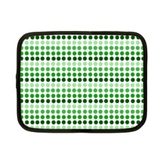 Greenish Dots Netbook Case (small)