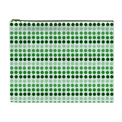 Greenish Dots Cosmetic Bag (xl)