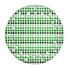 Greenish Dots Ornament (round Filigree)