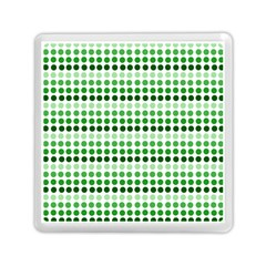 Greenish Dots Memory Card Reader (square)