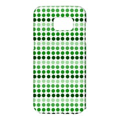 Greenish Dots Samsung Galaxy S7 Edge Hardshell Case