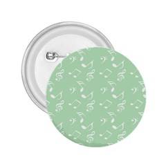 Mint Green White Music 2 25  Buttons
