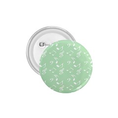 Mint Green White Music 1 75  Buttons