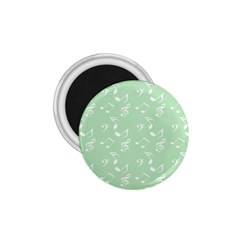 Mint Green White Music 1 75  Magnets