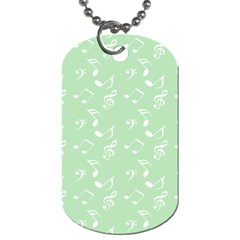 Mint Green White Music Dog Tag (two Sides)