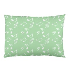 Mint Green White Music Pillow Case