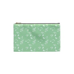 Mint Green White Music Cosmetic Bag (small)