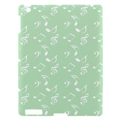 Mint Green White Music Apple Ipad 3/4 Hardshell Case