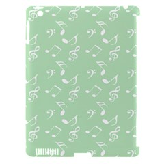 Mint Green White Music Apple Ipad 3/4 Hardshell Case (compatible With Smart Cover)