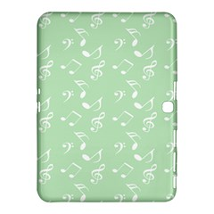 Mint Green White Music Samsung Galaxy Tab 4 (10 1 ) Hardshell Case