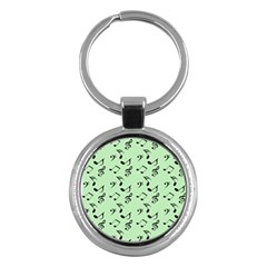 Mint Green Music Key Chains (round)