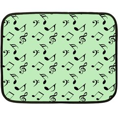 Mint Green Music Fleece Blanket (mini)