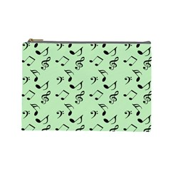 Mint Green Music Cosmetic Bag (large)