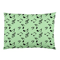 Mint Green Music Pillow Case (two Sides)
