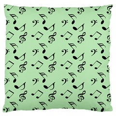 Mint Green Music Large Cushion Case (two Sides)