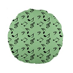Mint Green Music Standard 15  Premium Round Cushions