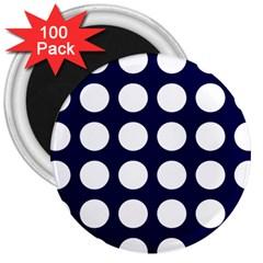 Big Dot Blue 3  Magnets (100 Pack)