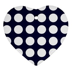 Big Dot Blue Heart Ornament (two Sides)