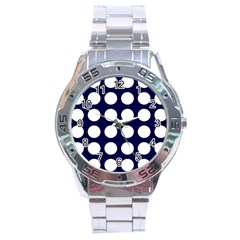 Big Dot Blue Stainless Steel Analogue Watch