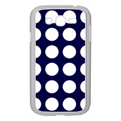 Big Dot Blue Samsung Galaxy Grand Duos I9082 Case (white)