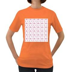 Winter Pink Hat White Heart Snow Women s Dark T Shirt