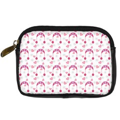 Winter Pink Hat White Heart Snow Digital Camera Cases