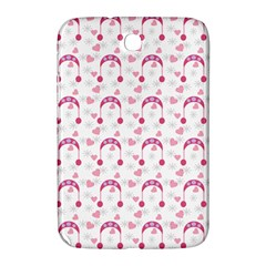 Winter Pink Hat White Heart Snow Samsung Galaxy Note 8 0 N5100 Hardshell Case