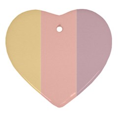 Ice Cream Lines Heart Ornament (two Sides)