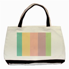 Ice Cream Lines Basic Tote Bag (two Sides)