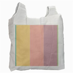 Ice Cream Lines Recycle Bag (two Side)