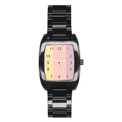 Ice Cream Lines Stainless Steel Barrel Watch