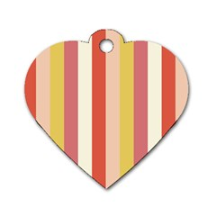 Candy Corn Dog Tag Heart (two Sides)