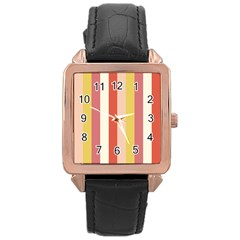 Candy Corn Rose Gold Leather Watch