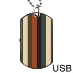 Young Nature Dog Tag Usb Flash (one Side)