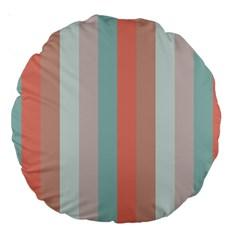 Seafoam Splash Large 18  Premium Round Cushions