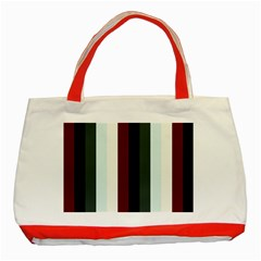 Sitting Classic Tote Bag (red)